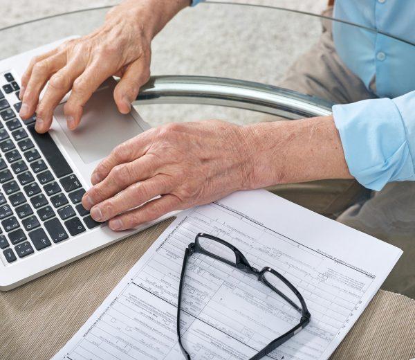 Filling claim form online